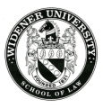 10. Widener University School of Law Seal