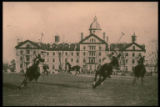 PMC Polo Behind Old Main, 1923