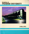 1990-1991 Undergraduate Course Bulletin - Widener University