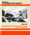Widener University - Graduate Bulletins - Arts and Sciences and Teacher Education