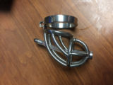 Stainless Steel Male Chastity Device with Catheter